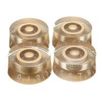 Wholesale volume knob guitar - Wholesale- Best Price High Quality Gold Speed Control Knobs Set 4 Pcs Volume Tone Buttons For Electric Guitar