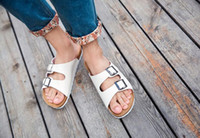 Flat Heel outlet cover sizes - Factory Outlets Summer Cork Slippers Sandals New Women Casual Beach Double Buckle Printed Slip on Slides Shoe Flat Plus Size
