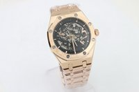 Wholesale Luxury Branded Automatic Watch Men - brand new With back glass Rose gold case F40757 Luxury Fashion Wristwatche Wholesale men watch sports Automatic Stainless Men's Watches