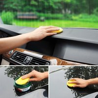 Wholesale Yellow Car Cleaning Tool Applicator Pads set Sponge Car Wax Sponge Anti Scratch Car Care