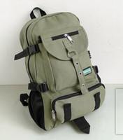 Wholesale Strap Bags For Men - New Fashion arcuate shouider strap zipper solid casual bag male backpack school bag canvas bag designer backpacks for men
