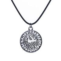 Wholesale Odin Pendant - Sleipnir Odin's Steed Viking Pendant Horse of Odin Necklace Scandinavian Norse Viking Jewelry Amulet Norway Valknut Christmas Gift