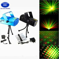 Luce di scena Vendita calda per le vacanze 50pcs mini laser blu di illuminazione della fase 150mW Mini GreenRed laser DJ Party Nero LED Disco Dance Floor Lights