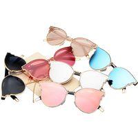 korea gläser mode großhandel-9045 V Marke Sonnenbrille Südkorea großen Rahmen Sonnenbrille Sterne Frauen Sonnenbrille Mode Wild Shopping Flut Abschnitt Gläser