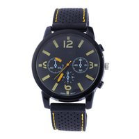 Wholesale Dresses For Races - Wholesale Black Silicone Racing Watches For Mens Men Military Watches Luxury Casual Quartz Watch Sport Wristwatch Fashion Dress watch Clock