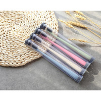 Wholesale Toothbrush Wholesale China - The Portable Travel 4 color Toothbrush Wheat Soft Bamboo Charcoal Toothbrush Tongue Cleaner made in china