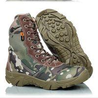 askeri taktik ayakkabılar toptan satış-Askeri Taktik Savaş Su Geçirmez Botlar Ordu Erkekler Ayak Bileği Çöl Botları Sonbahar Bahar Seyahat Yürüyüş Açık Tırmanma Ayakkabı