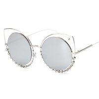 Wholesale Diamond Eyewear Wholesale - Wholesale- mimiyou Diamonds Wrap Eyeglasses Eyewear Vintage Retro Fashion Sun Glasses Brand Women Men UV400 oculos de sol feminino