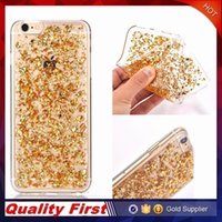 Wholesale Design Bling Case - For Iphone 6 7 Samsung 6 7 Soft Clear Cases Luxury Bling Sparkle Faceplate Colorful Leaf Design Semi-transparent Flexible Soft TPU Case