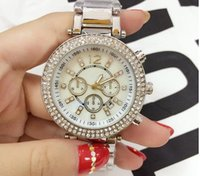 Wholesale Brands Japanese Movement Watches - new fashion japanese analog movement female table high quality brand dress automatic diamond watches color dials folded wrist watch gifts