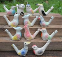 500pcs Vintage Style Handmade Dropship Water Bird Whistle Clay Birds Céramique Glacé Pavé Whistle Noël Party Gift