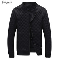 Wholesale High Brand Clothing Jacket - Wholesale- Hot Sale 2016 New Fashion Brand Jacket Men Clothes Baseball Collar Trend Slim Fit High-Quality Casual Mens Jackets And Coats 5XL