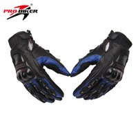 Wholesale Motorcycles Handlebars Gloves - Wholesale- PRO-BIKER Full Finger Handlebar Gloves Motorcycle Winter Gloves Handlebar Blue MOTO Racing Gloves M-XL