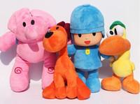 Wholesale Large Pato Toy - Hot sale BANDAI Plush Pocoyo Plush Doll Large Doll Lovely Pato Elly Loula Cartoon Figure Toys plush doll Free shipping