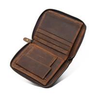 дизайн для визитных карточек оптовых-Новая мода натуральная кожа мужская портфель сумка бизнес молния бумажник держатель карты сумка высокого качества старинные бумажник дизайн запястье мешок