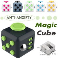 Wholesale Retail Package 15 Dhl - Fashion Magic Fidget Cube Anti-anxiety Decompression Toy Adults Stress Relief Kids Toy Gift 11 Colors With Retail Package DHL Free Shipping