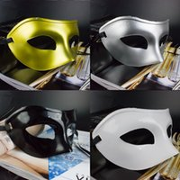 pedir mascarillas al por mayor-Men Pure Color Máscaras de disfraces de Halloween Birtyday Graduation Carnival Masks Performance Show Upper Face Masks Orden de la mezcla