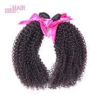 Wholesale Wholesale Hair Online - Isee Hair Brazilian Curly Weave 3Pc Brazilian Peruvian Malaysian Indian Virgin Hair Cheap Online 100% Unprocessed Human Hair Extensions Weft