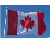 Wholesale Canadian Flags - 90cmx150cm Canada National Flags 3*5 Feet Large Canadian Flags Polyester Canada Maple Leaf Banner Outdoor Flags