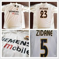 Wholesale T Shirt Real Madrid - New 2016 2017 Real Madrid retro jersey white,2004 2005 Real Madrid restoring ancient home shirt,Real Madrid ancient classic white T-shirt