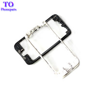 Wholesale iphone middle frame bezel hot glue online - 50PCS Front Bezel with hot glue Middle Frame for iPhone G C S plus s plus Mid Frame LCD tOUCH Screen