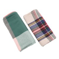 Wholesale-Women Inverno Blanket Oversized Tartan Scarf Plaid Checked Wrap Shawl Bloggers Favorito NO1