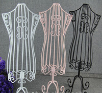 tutucu manken bebek toptan satış-Yeni Pet Elbise askısı Ekran Tutucu Torsos Doll Elbise Formları Manken standı Base Metal Vintage kedi ürün-Toptan