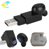 Wholesale Iphone Charger Chip - Mini Wireless Bluetooth 4.1 Chip Earphones with Mic Hansfree Car Earbud In Ear Last 5 hours Magnetic Charger Earpiece Headset for iPhone sam
