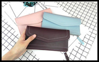 Wholesale Vogue Fashion Photos - Vogue of new fund of 2017 ms contracted to grow a large capacity solid color female wallet card in my purse bags high quality free shipping
