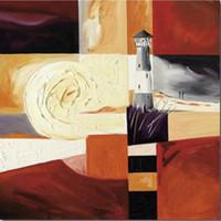abstrakte gemälde für sonnenaufgang großhandel-Starry Sunrise abstrakte Gemälde von Alfred Gockel Leinwand Kunst Reproduktion für Wanddekor