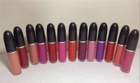 ingrosso rosa twin-Nuovo rossetto liquido opaco 15 colori bellezza labbra Lucidalabbra classico opaco retrò 15 colori disponibili