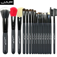 Wholesale Makeup Brushes 18 Pcs - 18 PCS Makeup Brush Set Goat Hair JAF Brand Professional Cosmetics Brushes Sets Eyeshadow Foundation Blush Make Up Tools Kits Beauty Supplie