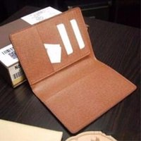 Wholesale Nappy Bags Holder - Men genuine leather passport cover wallet women luxury credit card holder men business card holder travel wallet porte carte carteira 181H 2