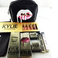 Wholesale Valentines Gift Bags - Kylie Makeup Bag Edition Matte Lipstick Birthday Collection Cosmetic Bronze kyliner Edition Creme Shadow LEO Valentine Gift Box