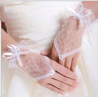 Wholesale Korean Fingerless Gloves - Korean wedding bridal glove Fingerless Lace short hand gloves yarn socks bride Weddings Events Accessories wholesale