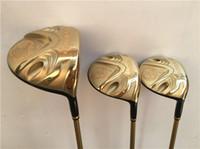 Wholesale Katana Driver Golf - 3PCS Katana Voltio IV Hi Wood Set Katana Voltio Golf Woods Golf Clubs Driver + Fairway Woods R S-Flex Graphite Shaft With Head Cover