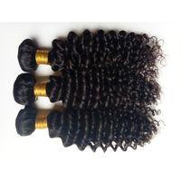 afro kinky curl saç uzantıları toptan satış-İşlenmemiş Brezilyalı bakire insan saçı yumuşak güzellik kinky kıvırmak saç uzantıları için Afro-Amerikan siyah kadın saç 3 4 5 adet / grup DHgate