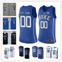 Wholesale Sleeveless Number - Custom Mens Duke Blue Devils College Basketball black royal blue white Personalized Stitched Any Name Number #1 #4 #14 #15 #32 Jerseys S-3XL