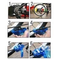 bisiklet zinciri temizleme toptan satış-Taşınabilir Bisiklet Zinciri Temizleyici, bisiklet Temiz Makinesi Fırçalar Scrubber Yıkama Aracı, Dağ Bisikleti Temizleme Kiti Açık Spor