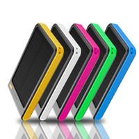 Wholesale Real Banks - Solar Power bank Real 5000mah Double USB Portable Solar Charger PowerBank for xiaomi smartphone  ipad camera