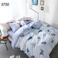 Polyester / Cotton origami machine - Origami printing bed linens cranes bedding set squirrel bed clothes cotton quilt blanket cover falt sheet pillowcases hot