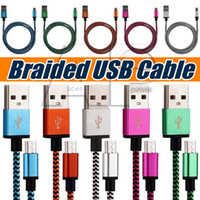 cargadores de android de color al por mayor-Micro V8 Tipo C Cable USB Línea de datos Cables del cargador Cable de carga Weve Android Para Samsung Note 9 S9 Plus S7 Edge
