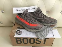Wholesale Big Orange Box - SPLY 350 V2 BB1826 Beluga Big size 36-48 Grey Orange Solar Kanye West V2 Sply BOOST Running Shoes with Box Receipt Socks Keychain