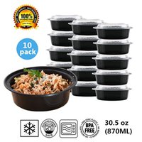 -20°F to 120°F pack bento box - Round Plastic Food Storage Container With Lid Bento Box Meal Preparation Container Microwave Dishwasher Safe ounce pack
