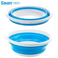 8LPortable 15 '' Silicone pieghevole Camp Bowl Water Wash Storage, per il campeggio Pesca Outdoor Travel