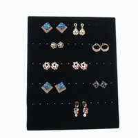 Wholesale Jewelry Store Free Shipping - 2017 Free Shipping Trumpet Display Shelf Board Pin Ear Ring Jewelry Display Stand Earring Holder Jewelry Box Store Shelf