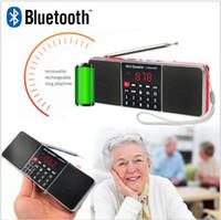 l radio achat en gros de-L-288AMBT Mini Portable Rechargeable Portable Haut-parleur Sans Fil Radio AM Radio FM Fonction Support Carte TF Disque USB MP3 L-288