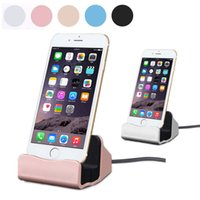 Wholesale Iphone 5s Data Sync - High Speed Sync Data Charging Dock Station Mobile phone Desktop Docking Charger USB Cable For iPhone 5 5S 5C SE 6s 6 Plus 7 Android device