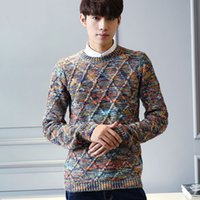 Wholesale Fresh Sweater - Men sweater student 2016 new winter Korean style male fresh o-neck casual pullover sweater teenage boy handsome