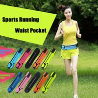 Wholesale Universal inch Waterproof Sports Running Waist Pocket Pouch Belt Case Bag For iPhone Plus S S Samsung S7 edge S6 Note DHL